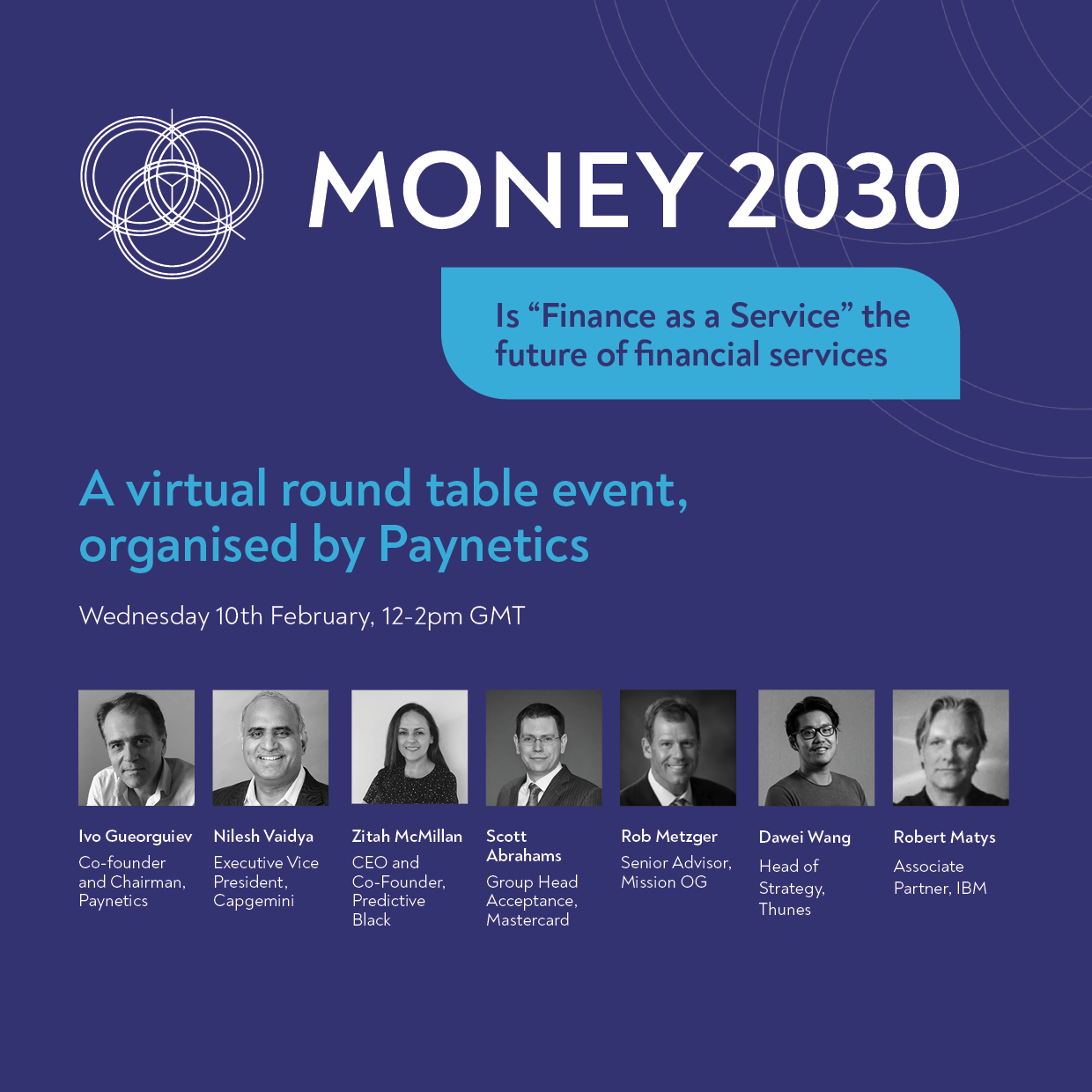 """Money 2030 round table – 10th February – Is """"Finance as a Service"""" the future of financial services?"""